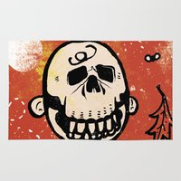 charlie brown Area & Throw Rugs featuring Charlie Brown - The Original Pumpkin King by Neil McKinney