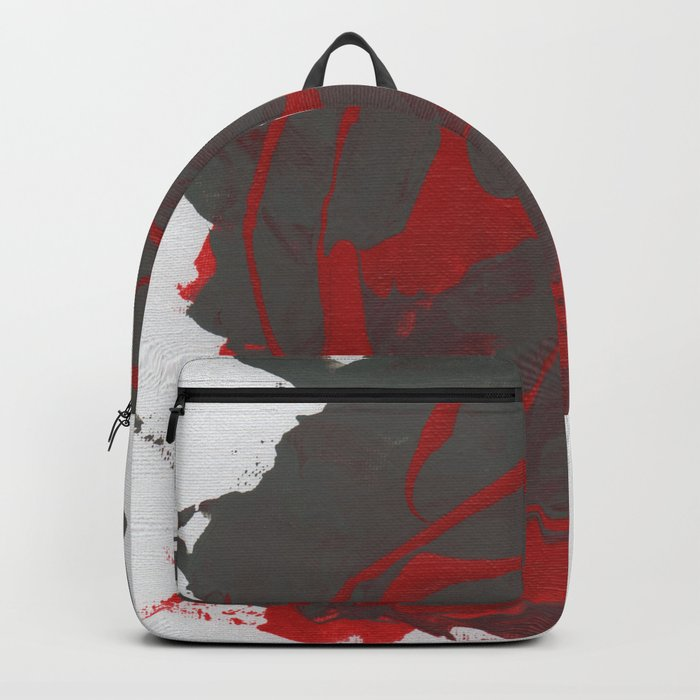 The Red Grey Abstraction. Backpack