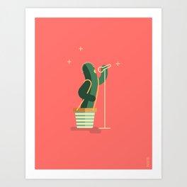 CACTUS BAND / The Singer Art Print