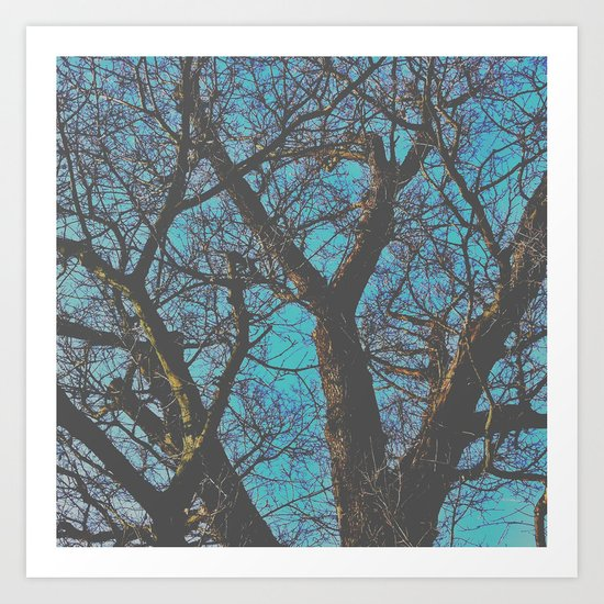 Whispy Tree Art Print