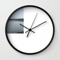 lake Wall Clocks featuring Lake  by Hichamus Curator