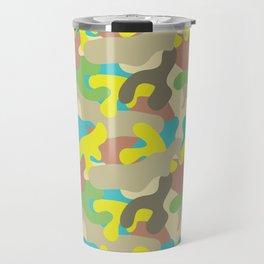 Turquoise Camo Pattern Travel Mug