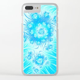 Abstract Christmas Ice Garden Clear iPhone Case