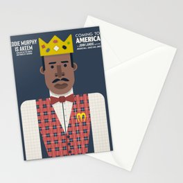 Coming to America, Eddie Murphy, Akeem, John Landis, alternative movie poster, McDowell, employee of the month, Il principe cerca moglie Stationery Cards
