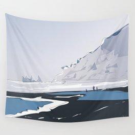 Vik Reynisfjara Black Sand Beach, Iceland Travel Poster Wall Tapestry