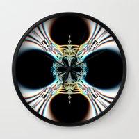 mod Wall Clocks featuring mod by Maureen Popdan