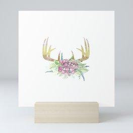 Bohemian Deer Antlers Mini Art Print