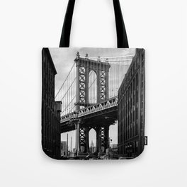 Manhattan Bridge view from Dumbo Tote Bag