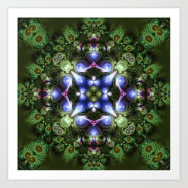 Fractal Forest Indigo Art Print