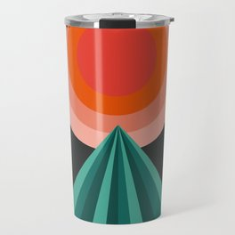 Way Decent - 70s retro throwback minimal sun california socal 1970's style Travel Mug