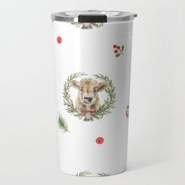 Christmas Cow Travel Mug
