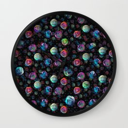 Marble Bubbles Wall Clock