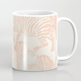Zebra Stampede in Peachy Pink Coffee Mug