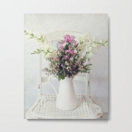 Whisper White Chair Metal Print