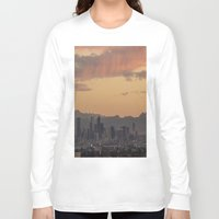 denver Long Sleeve T-shirts featuring Denver Skyline by Becca Buecher
