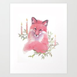 CHRISTMAS FOX 2017 Art Print