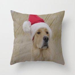 Doggy Christmas Throw Pillow