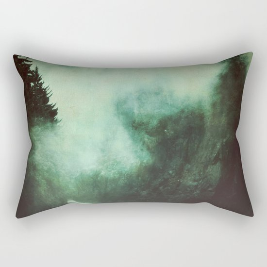 Morning dust on Mountains - Forest Wood Tree Rectangular Pillow