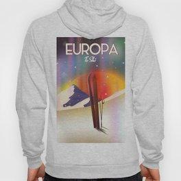 Europa To Ski Sci-fi travel poster Hoody