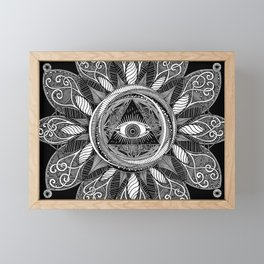 All Seeing Eye Framed Mini Art Print