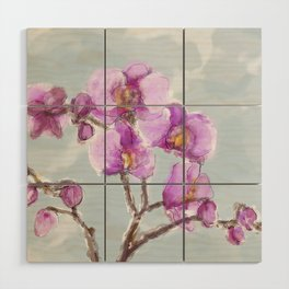 Watercolor Orchids Wood Wall Art