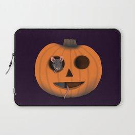 Halloween Rat in a Pumpkin Laptop Sleeve