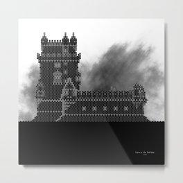 HexArchi - Portugal, Lisboa, Torre de Belém Metal Print