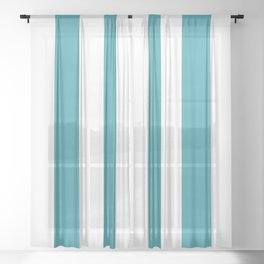 Big Lines Turquoise Sheer Curtain