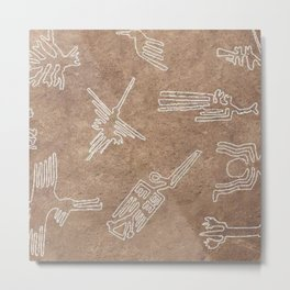Nazca Lines Pattern Metal Print