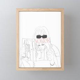 Anna Fashion Editor Framed Mini Art Print