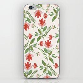 Floral Garden Pattern iPhone Skin