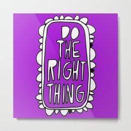 Rule #1: Purple Metal Print