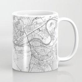 Frankfurt Map Line Coffee Mug