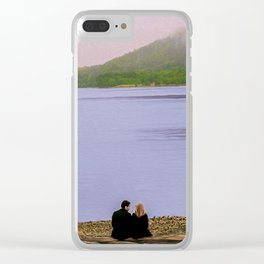 Conversation on the log - oil color painting Clear iPhone Case