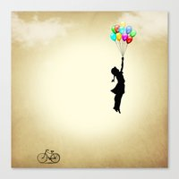 balloons Canvas Prints featuring balloons by mark ashkenazi