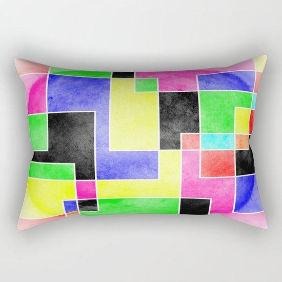 Colour Pieces Rectangular Pillow