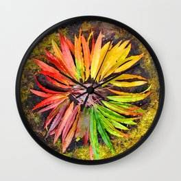 Alaskan Fireweed Color Wheel from Crow Creek Coolture Wall Clock