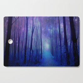 Fantasy Path Purple Blue Cutting Board