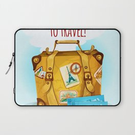 Travel Concept With Suitcase Laptop Sleeve