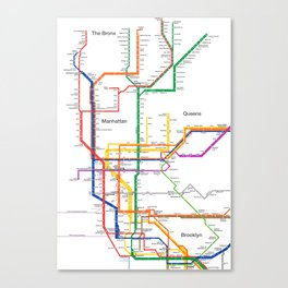 New York City subway map Canvas Print