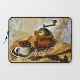 Coffee Grinder and Coffee Cup Laptop Sleeve