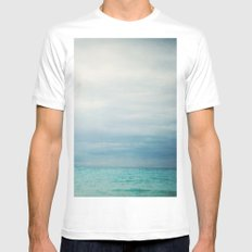 Out to Sea Mens Fitted Tee MEDIUM White