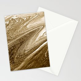 Gold Liquid Marble Stationery Cards