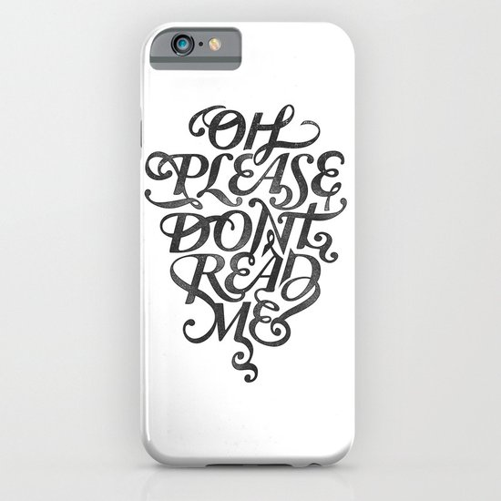 Please Don't (white version) iPhone & iPod Case