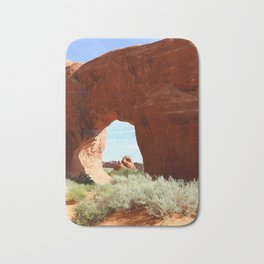 At The End Of The Trail - Pine Tree Arch Bath Mat
