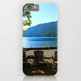 Adirondack Chairs at Lake Cresent iPhone Case