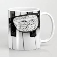 piano Mugs featuring piano by emyemyemyy