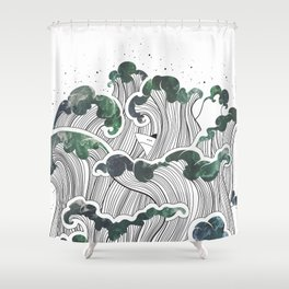 Storming mind | White Shower Curtain