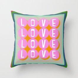 Love Balls Throw Pillow