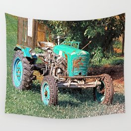 Old traditional Lindner tractor | conceptual photography Wall Tapestry